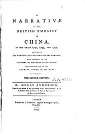 A Narrative of the British Embassy to China in the Years 1792, 1793 and 1794