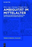 Ambiguit  t im Mittelalter PDF