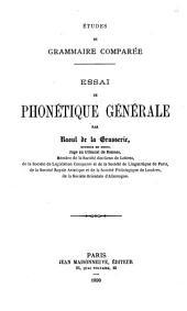 Études de grammaire comparée: Volume3