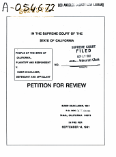 California. Supreme Court. Records and Briefs: S022972, Petition for Review