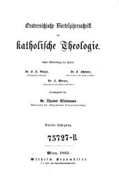 Oesterreichische Vierteljahrsschrift für katholische Theologie: Band 4