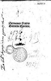 Sermones Fratris Gabrielis Barelete