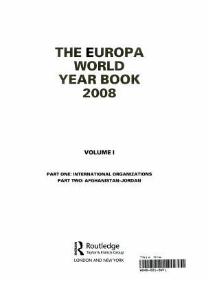 The Europa World Year Book 2008 PDF