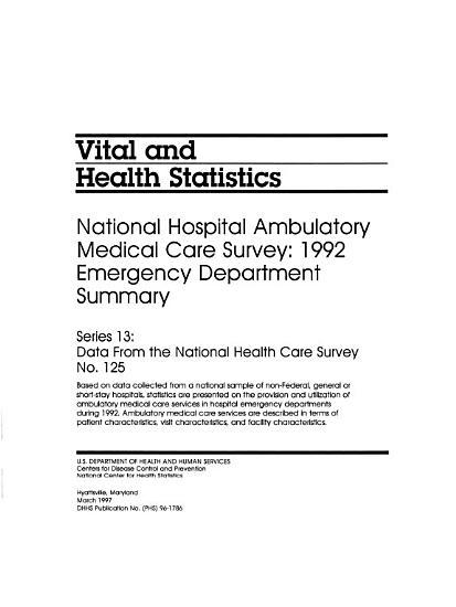 National Hospital Ambulatory Medical Care Survey PDF