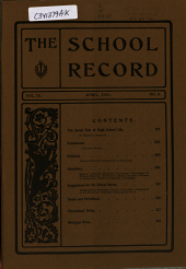 School Record: Volume 9, Issue 8