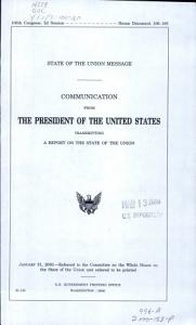 State of the Union Message Book