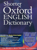 Shorter Oxford English Dictionary Book PDF