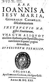 Instructio magistri novitiorum