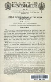 Cereal investigations at the Nephi substation