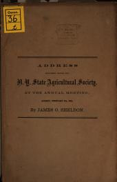 Address delivered before the New York State Agricultural Society: Volume 2