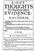 Right thoughts the righteous mans evidence: a discourse [on Prov. xii. 5], etc