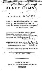 Olney Hymns in three books ... By J. Newton and William Cowper. The fifth edition