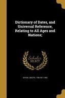 DICT OF DATES   UNIVERSAL REF PDF