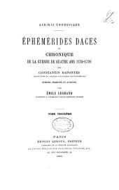 Dakikai ephēmerides: Notice bio-bibliographique. Lettres de Dapontès. In Index analytique des Ephémérides daces