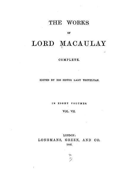 Download The Works of Lord Macaulay Complete Book