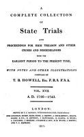Cobbett s Complete Collection of State Trials and Proceedings for High Treason and Other Crimes and Misdemeanors from the Earliest Period to the Present Time PDF