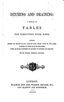 D  and Draining  a manual of tables for computing work done  etc PDF