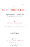 The Great Thirst Land PDF