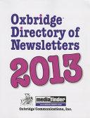 Oxbridge Directory of Newsletters 2013 PDF