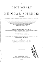 A dictionary of medical science ...