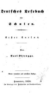 Deutsches Lesebuch für Schulen: erster Cursus, Band 1