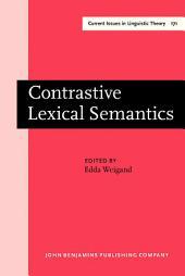 Contrastive Lexical Semantics