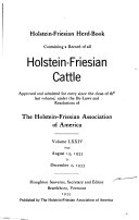 Download Holstein Friesian Herd book  Containing a Record of All Holstein Friesian Cattle     Book