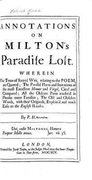 Annotations on Milton s Paradise Lost PDF
