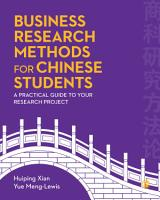 Business Research Methods for Chinese Students PDF
