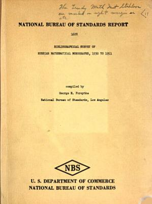 Bibliographical Survey Of Russian Mathematical Monographs