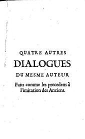 Cincq dialogues faits à l'imitation des Anciens: Volume2