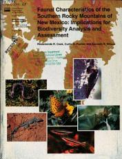 Faunal Characteristics of the Southern Rocky Mountains of New Mexico PDF