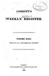Cobbett's Political Register: Volume 43