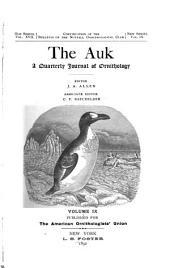 The Auk: Volume 9