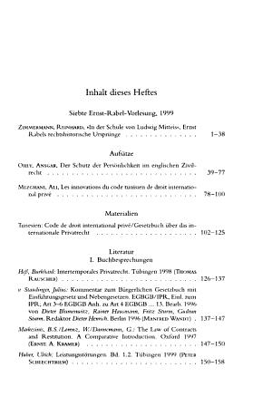 Rabels Zeitschrift f  r ausl  ndisches und internationales Privatrecht PDF