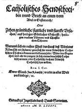 Catholisches Sendschreiben vnnd Briefe an einen vom Adel in Oesterreich0