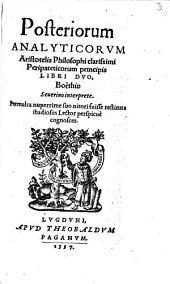 Posteriorum analyticorum libri duo
