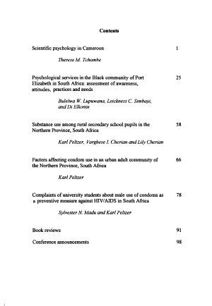 Journal of Psychology in Africa  south of the Sahara  the Caribbean  and Afro Latin America   PDF