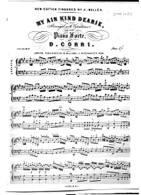 My ain kind Dearie  arranged with variations  for the piano forte New edition fingered by A  Mullen