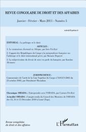 Revue congolaise de droit des affaires N° 5: Janvier février mars 2011