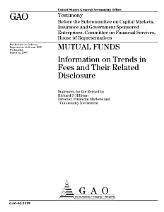 Mutual Funds  Information on Trends in Fees and Their Related Disclosure PDF