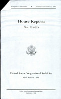 United States Congressional Serial Set Serial No 14986 House Reports Nos 203 215