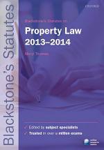 Blackstone's Statutes on Property Law 2013-2014