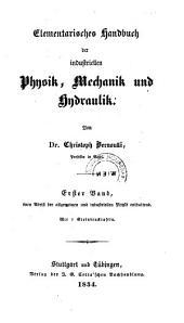 Elementarisches Handbuch der Industriellen Physik, Mechanik und Hydraulik