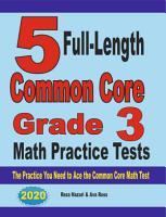5 Full Length Common Core Grade 3 Math Practice Tests PDF