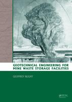 Geotechnical Engineering for Mine Waste Storage Facilities PDF