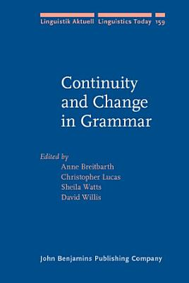 Continuity and Change in Grammar PDF