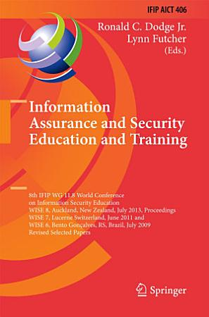 Information Assurance and Security Education and Training PDF