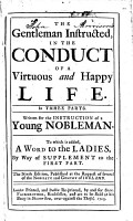 The Gentleman Instructed  in the Conduct of a Virtuous and Happy Life      By William Darrell   The Eighth Edition PDF