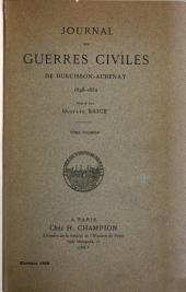 Journal des guerres civiles de Dubuisson-Abenay, 1648-1652: v. 2 lacking
